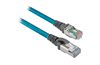 EtherNet Cables, 4conductors, RJ45, Teal Robotic TPE, UL CMB, CMX, cUL, CMG, standard TIA 568-B, Rockwell Automation